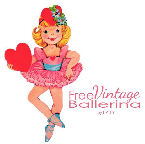 Free valentine clip art. Ballerina clipart vintage