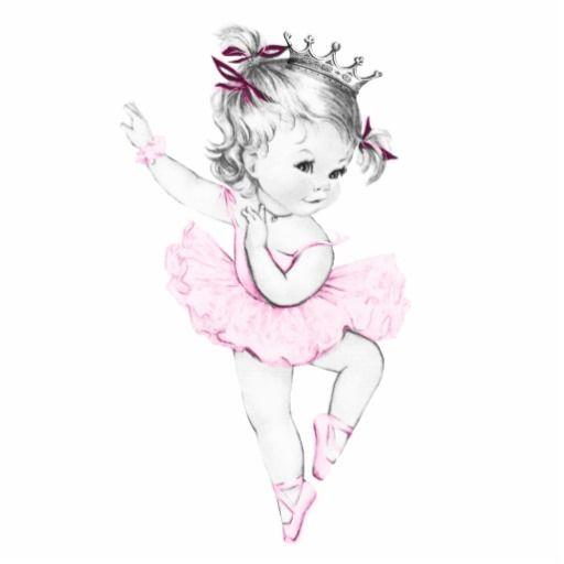 Ballerina clipart vintage. Pink princess baby girl