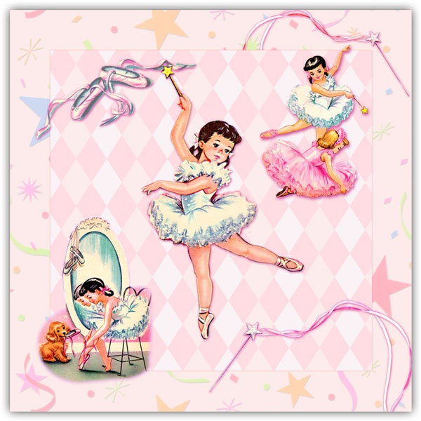 best ballerinas and. Ballerina clipart vintage