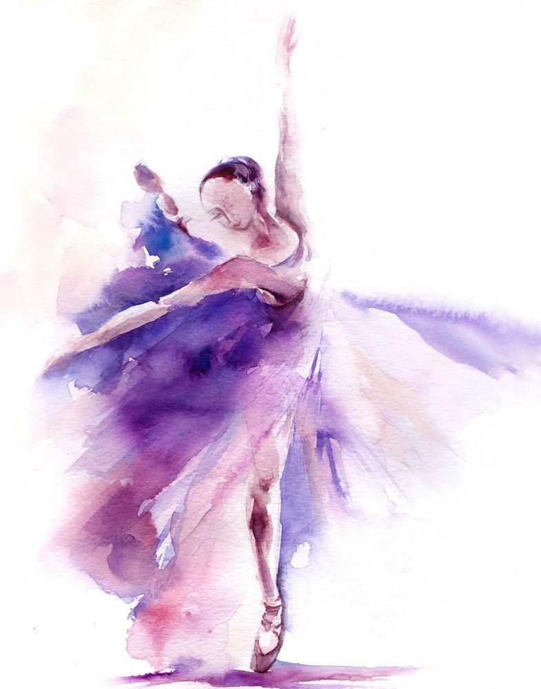 Ballet clipart abstract. Ballerina dancer watercolor painting