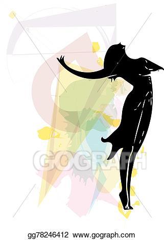 Ballet clipart abstract. Vector dancer illustration sketch