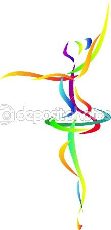 Dancing silhouette by surya. Ballet clipart abstract