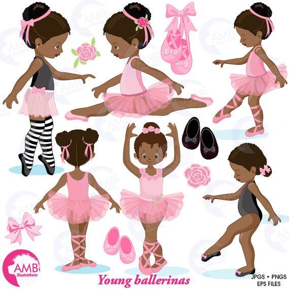 Ballerina clipart african american ballerina. Ballet pink dark skin