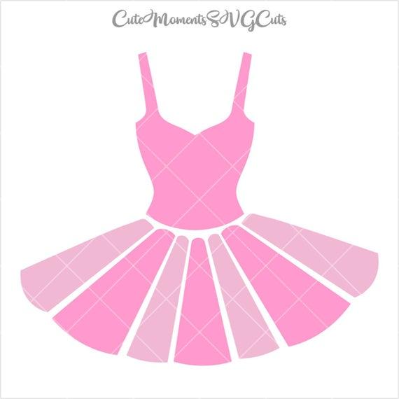 Ballet ballerina dress cut. Tutu clipart silhouette