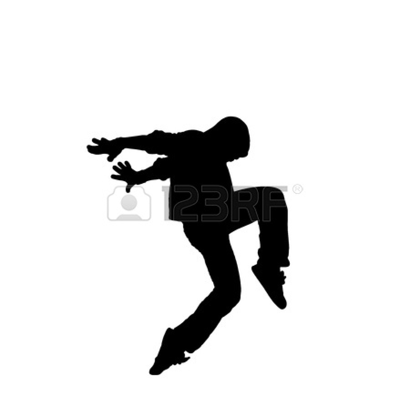 Dancer clipart logo. Male ballet silhouette at