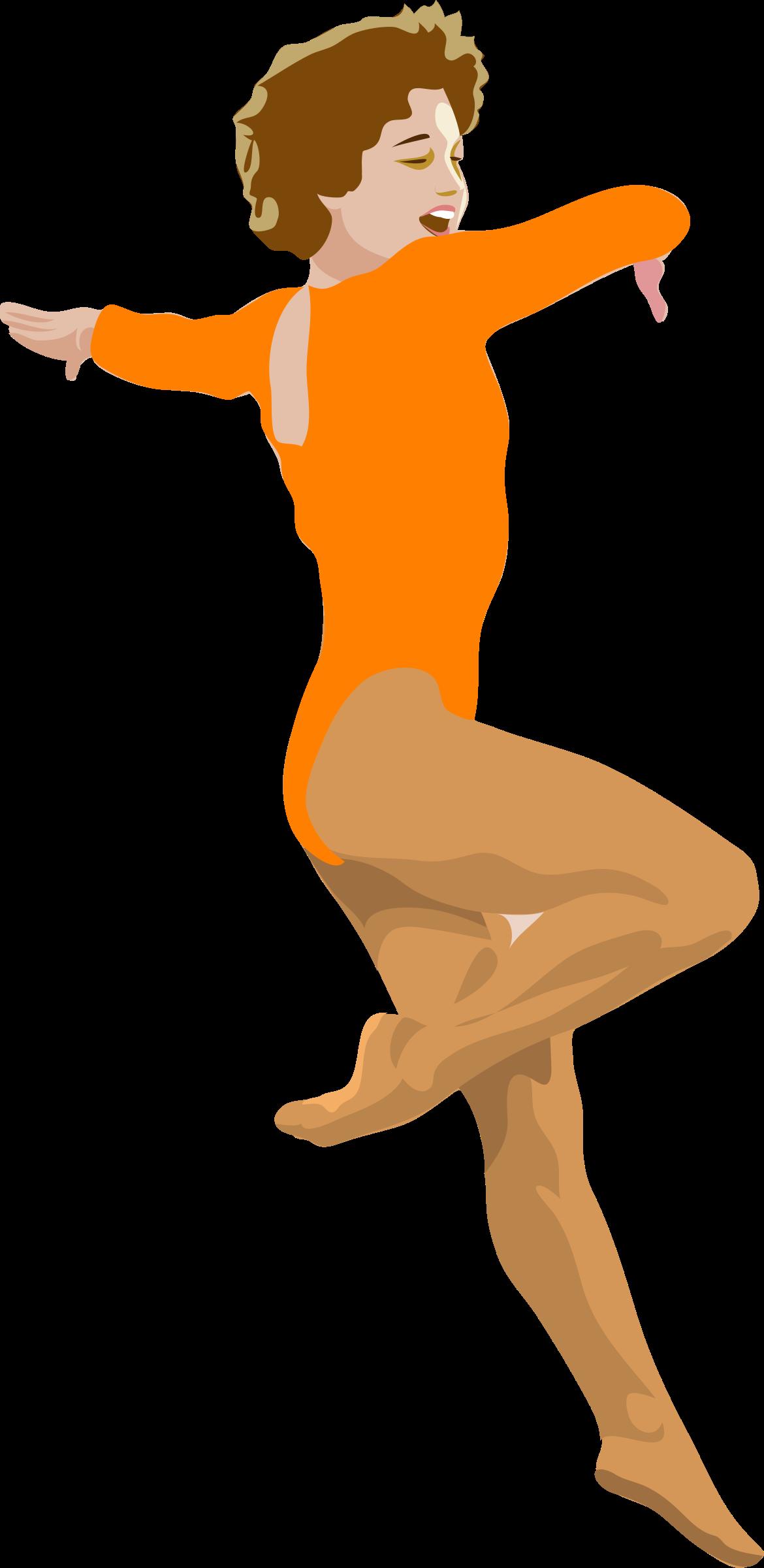 Gymnast clipart ballet. Architetto ballerina big image