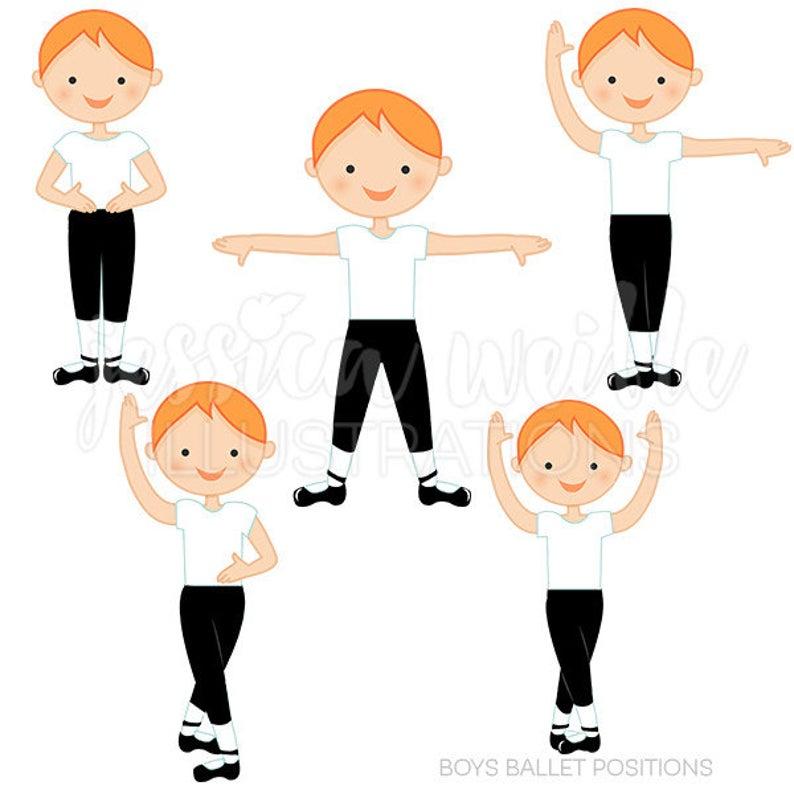 Auburn positions cute digital. Ballet clipart boys