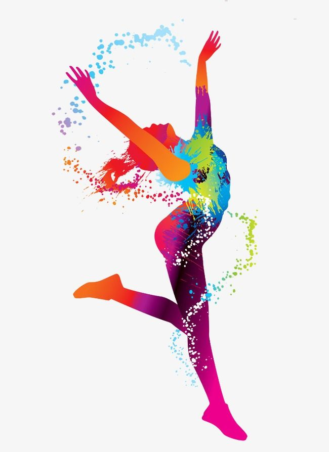 Dancing clipart colorful. Color woman png