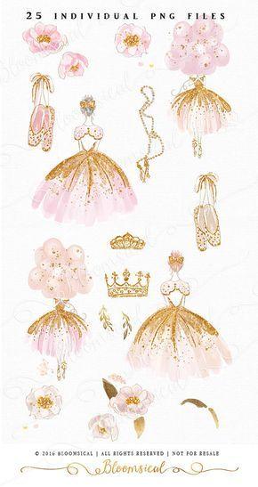 Clip art hand drawn. Ballet clipart princess