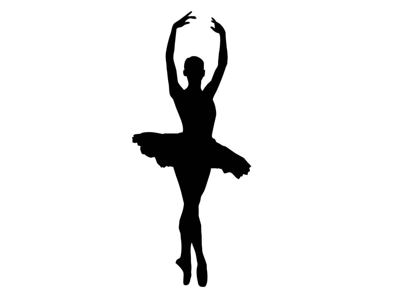 Ballet clipart silhouette. Tutu at getdrawings com
