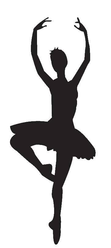 Dancing clipart lyrical dance. Ballet dancer silhouette panda