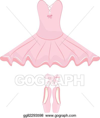 Vector stock and pointes. Tutu clipart ballet dress