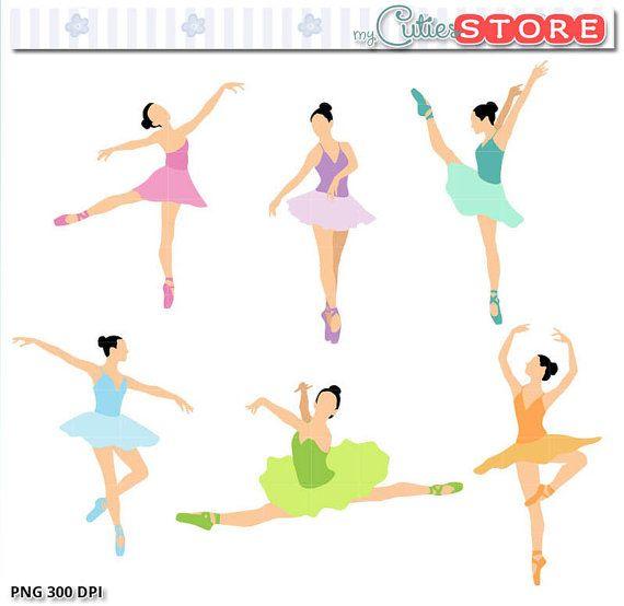 Ballet ballerinas silhouette clip. Ballerina clipart color