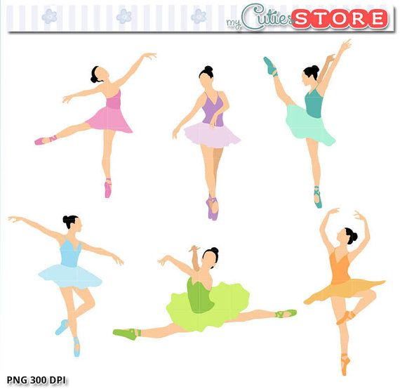 ballerina clipart color