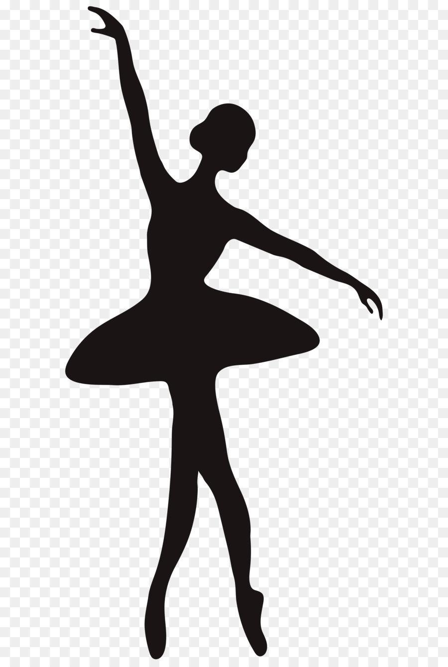 Ballet clipart. Dancer silhouette spinning ballerina