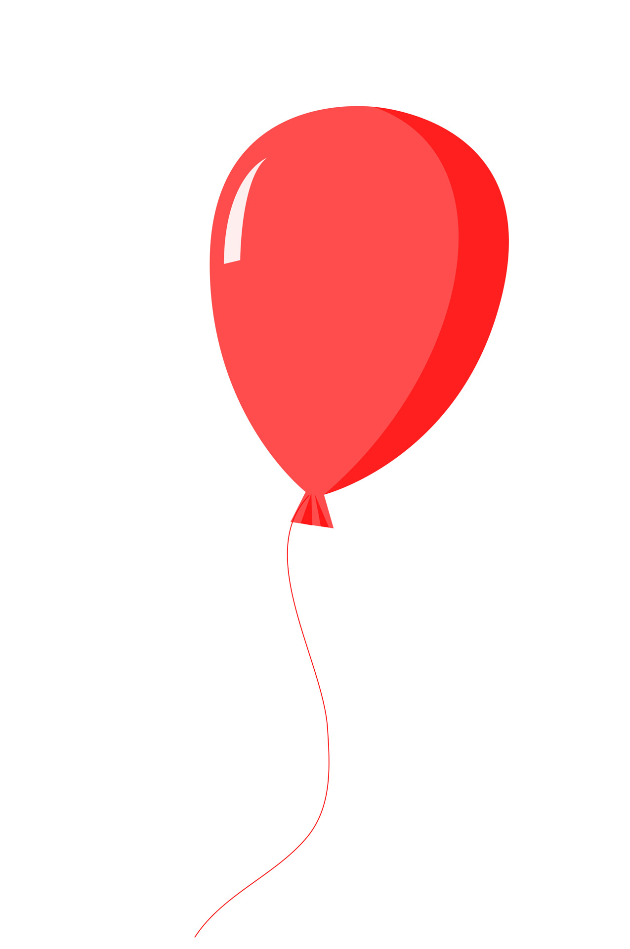 Clipart balloon. Red free stock photo