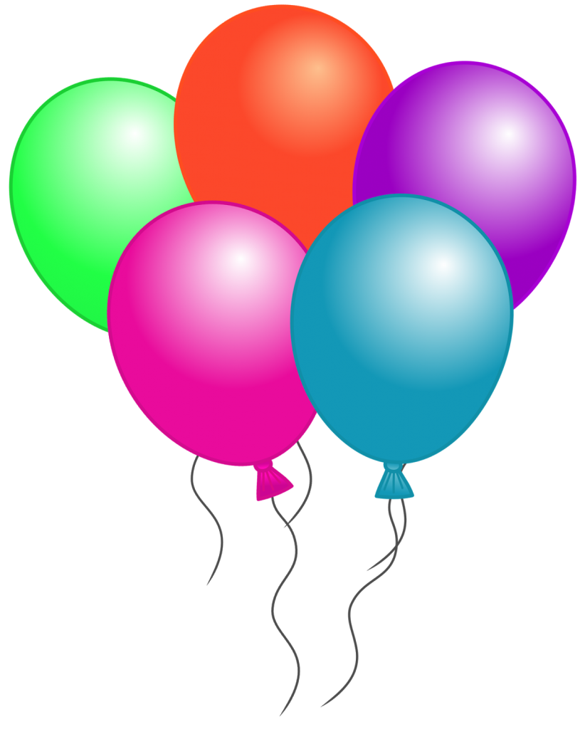 Free birthday balloon clip. Marbles clipart four
