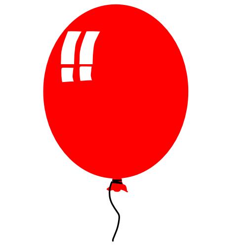 Clipart balloon. Free birthday clip art