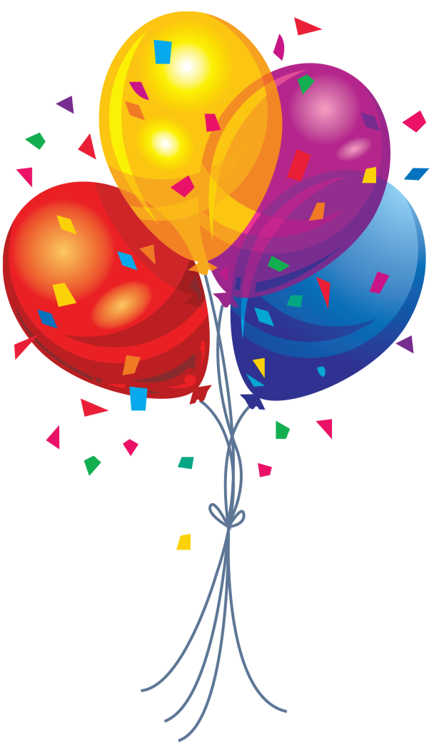 Transparent multi color balloons. Balloon clipart