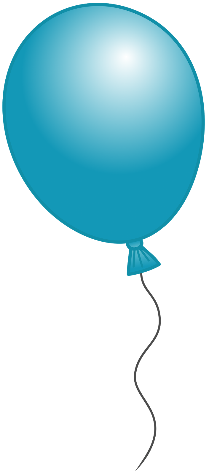 Balloon clipart. Blue