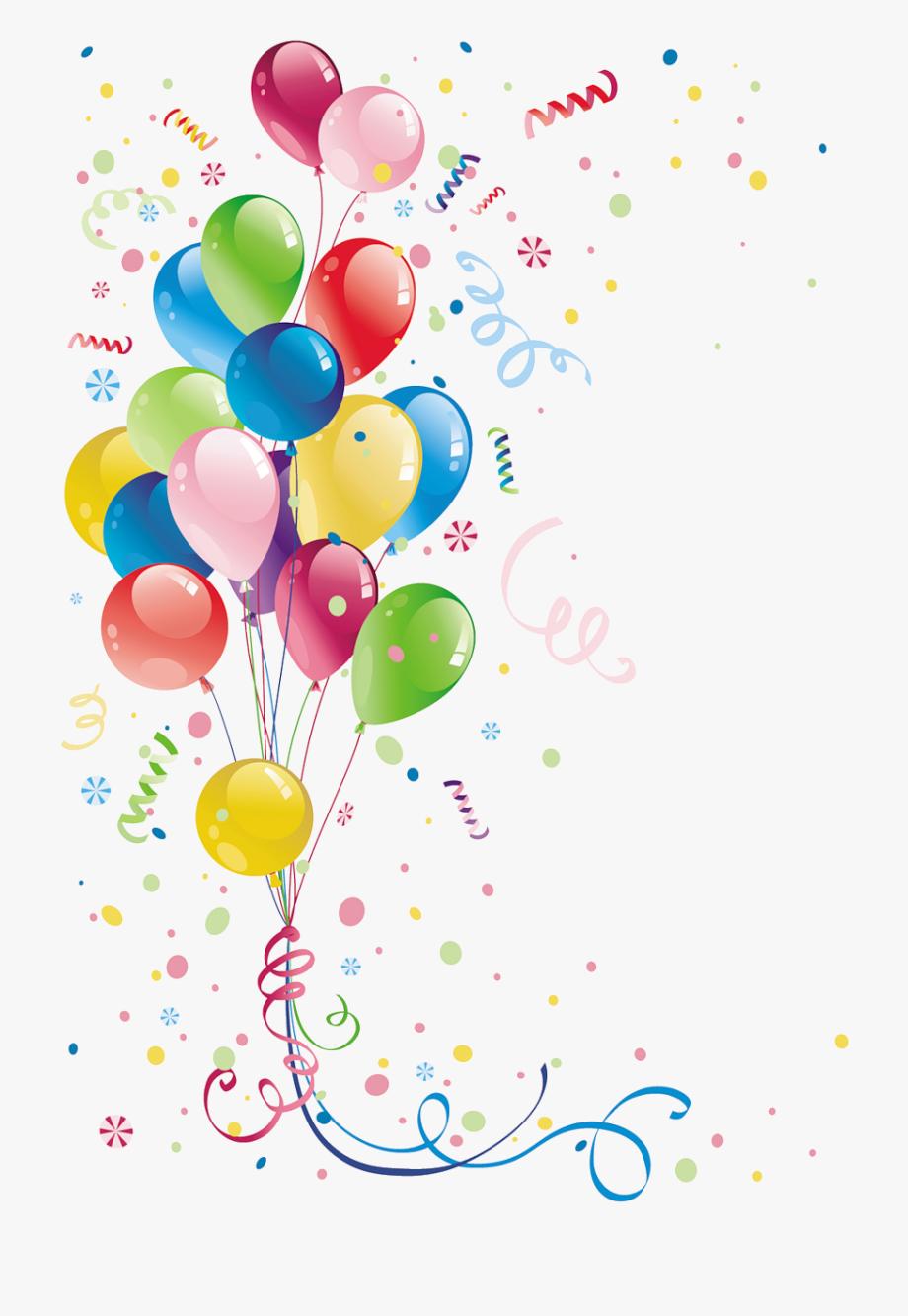 Balloon clipart ballon. Confetti and balloons ribbons