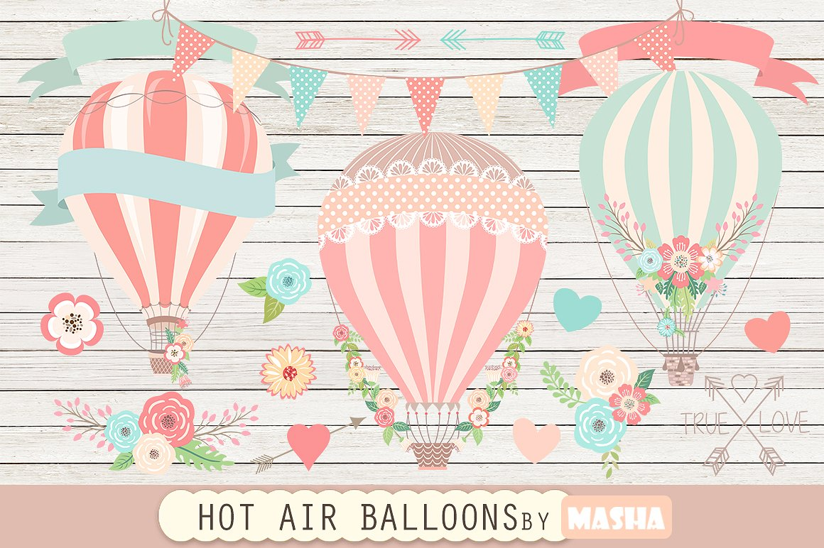 Air clipart air movement. Hot balloons graphics creative