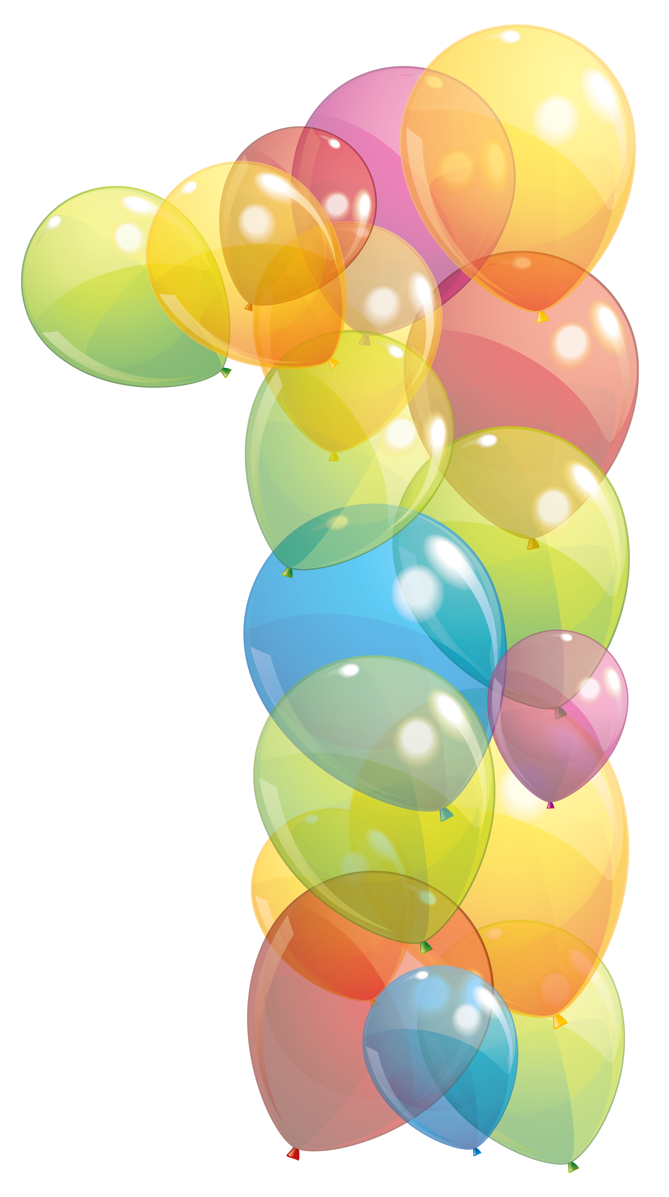 Transparent one of balloons. Clipart balloon number