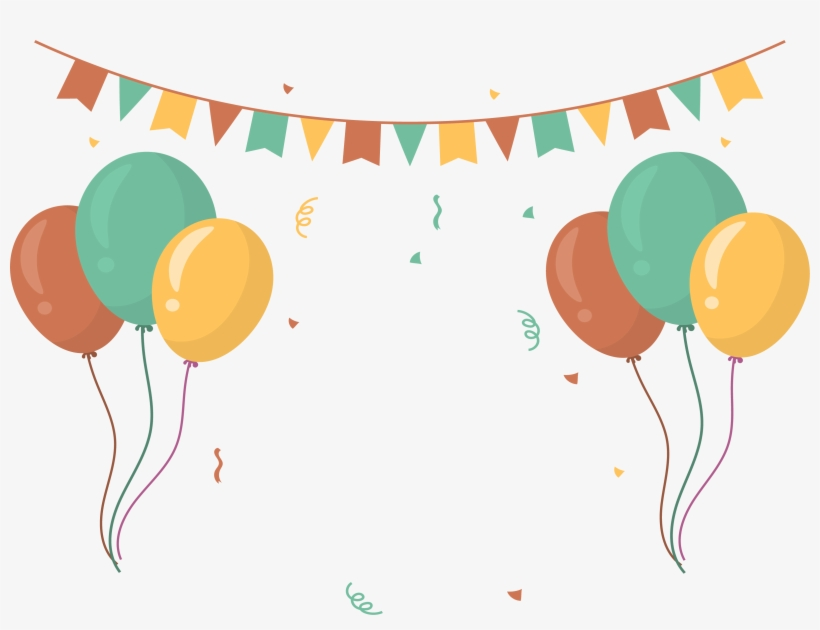 Party free . Balloon clipart banner