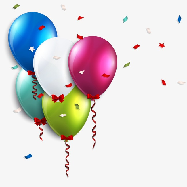 Balloon clipart vector. Birthday balloons png vectors