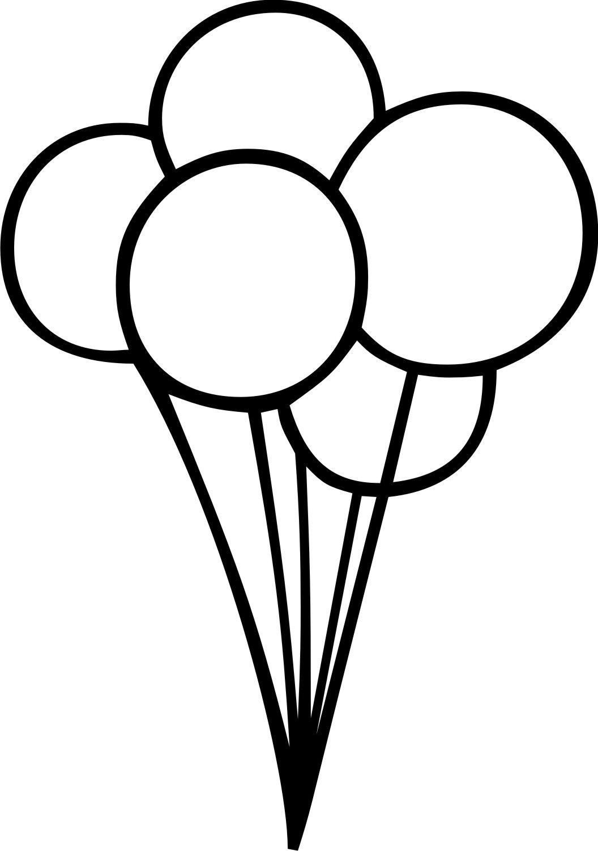 Balloon clipart black and white. Birthday balloons clip art