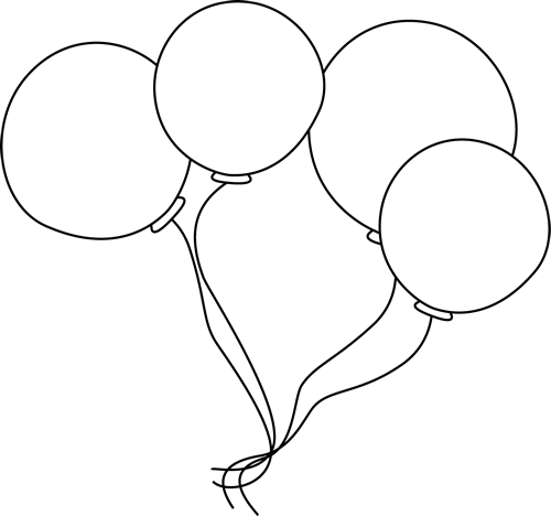 Balloon clipart black and white. Balloons clip art image