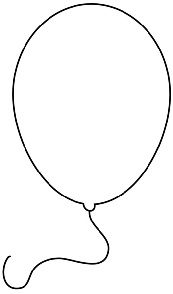 Balloon clipart black and white. Letters
