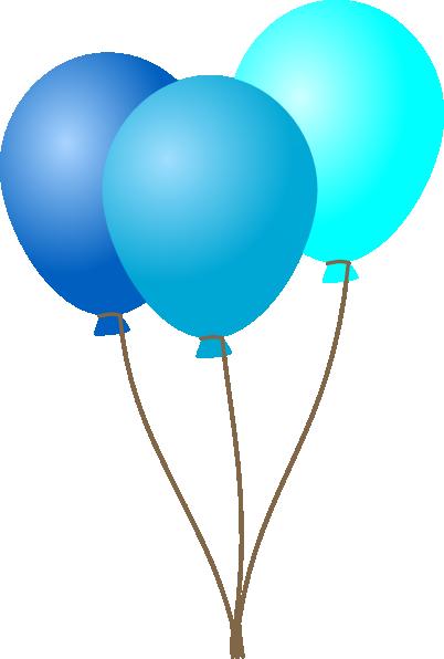Balloons . Blue clipart transparent