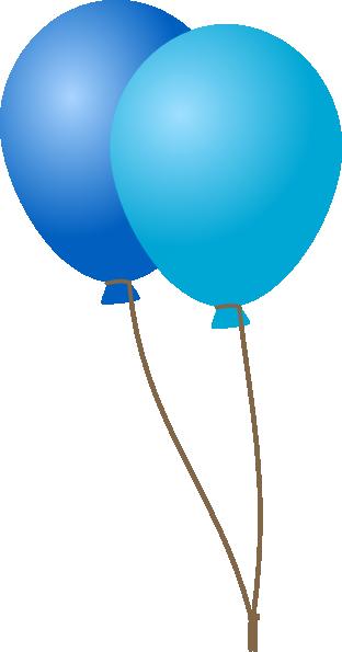 Emmas blue balloons clip. 2 clipart balloon