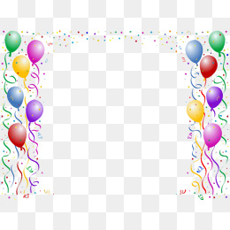 Balloon clipart boarder. Border png vectors psd