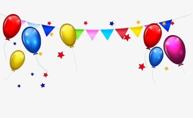 Balloon clipart boarder. Bunting stars border png