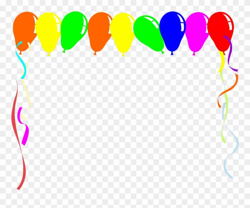 Balloon clipart boarder. Border template free balloons