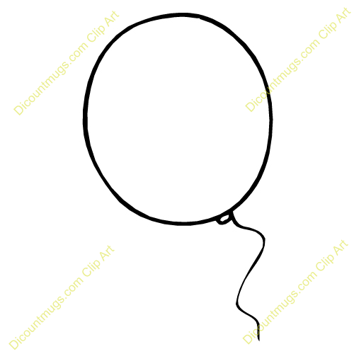 Balloon clipart line. Clear big