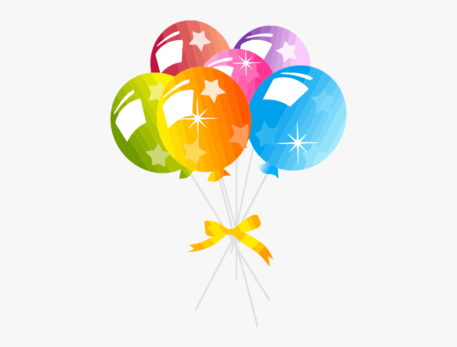 Balloon clipart clear background. Birthday balloons no free