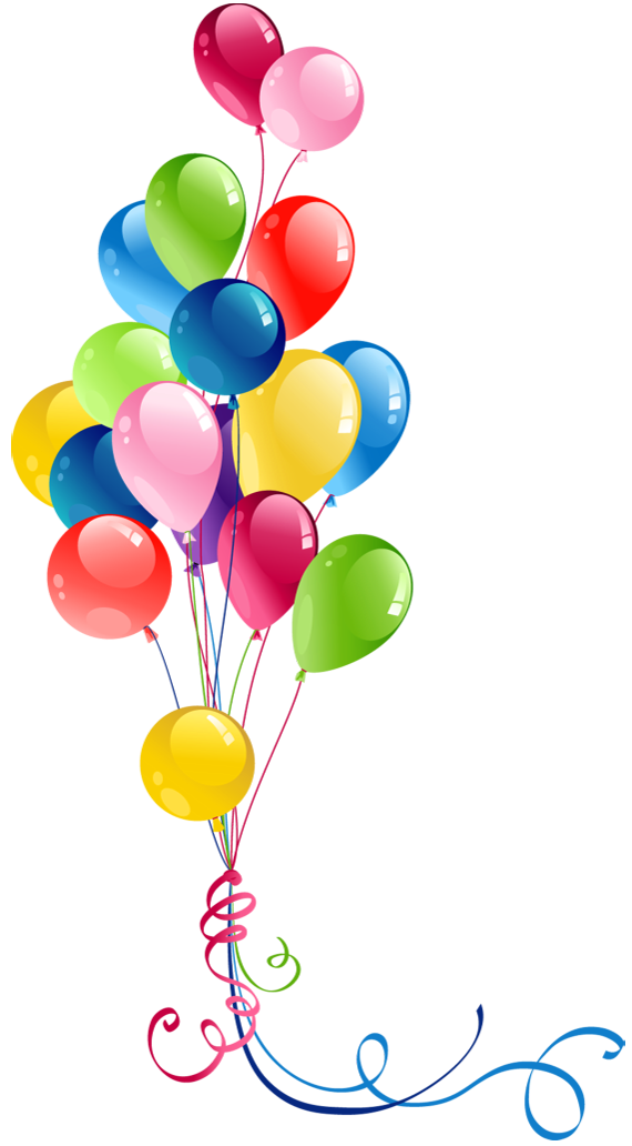 Transparent bunch balloons pretty. Clipart frame celebration