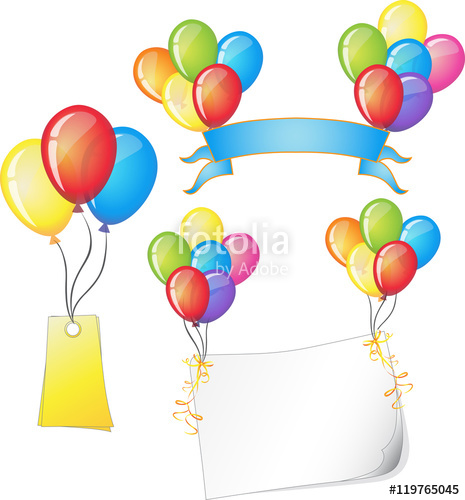 Celebrate clipart vector. Colorful balloons festive with