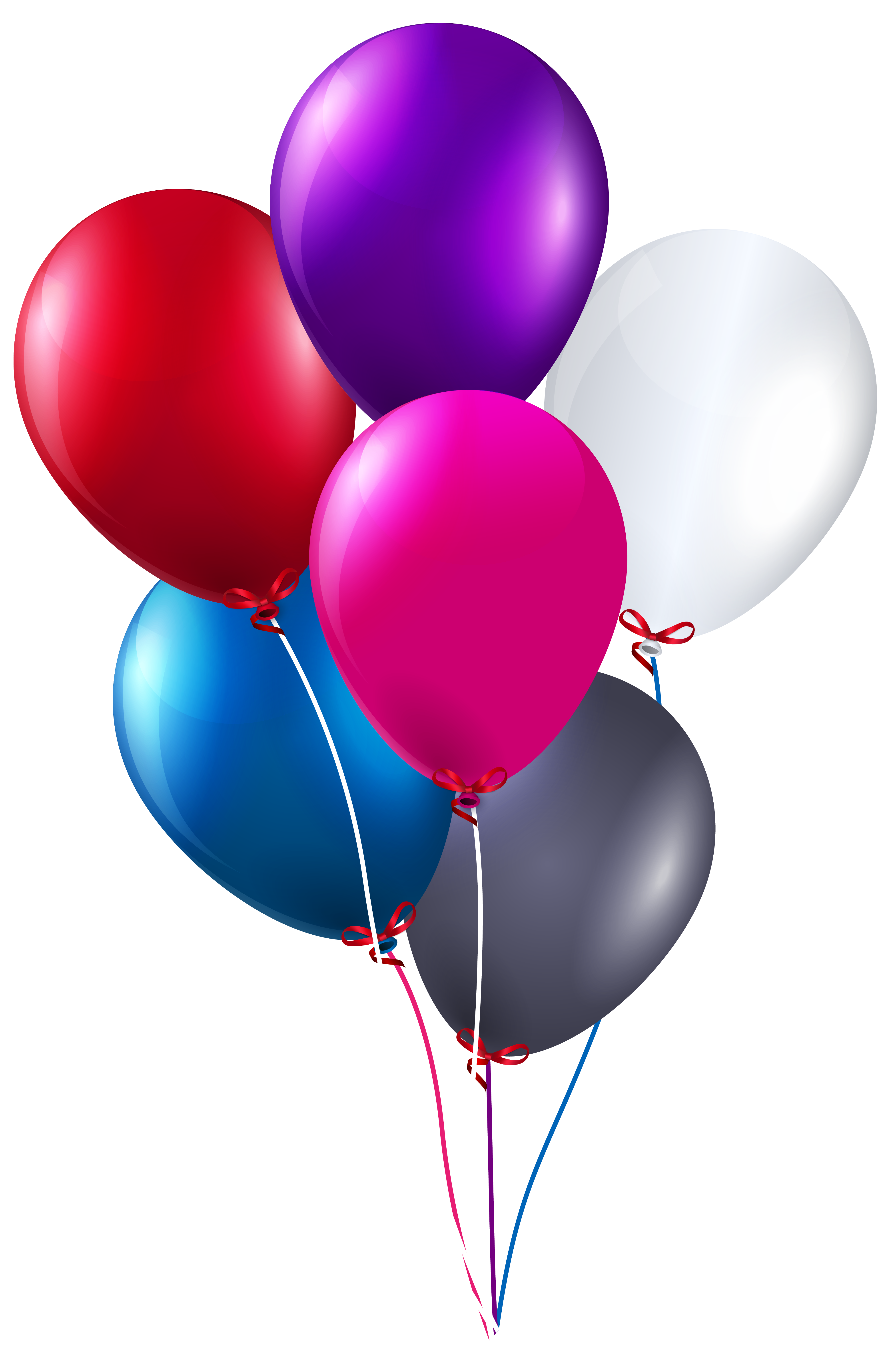Colorful bunch of balloons. Clipart balloon pink