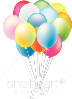 Balloon clipart wedding. Colorful balloons decorations