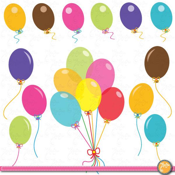 Party balloons clip art. Ballon clipart colorful balloon
