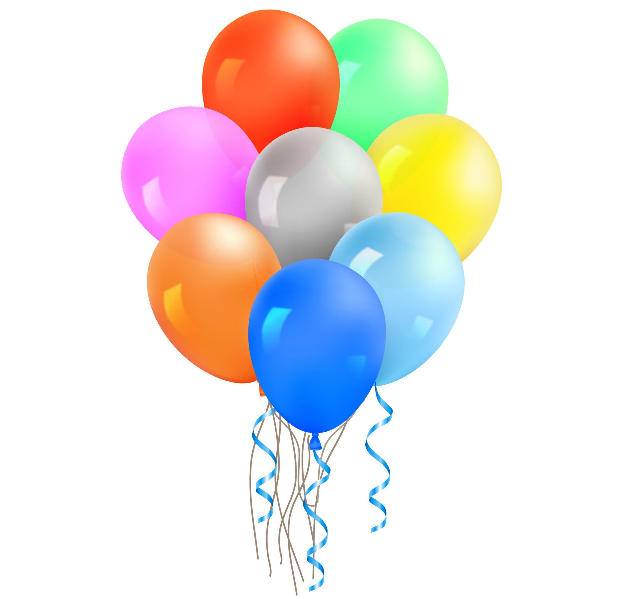 in latex balloons. Ballon clipart colorful balloon