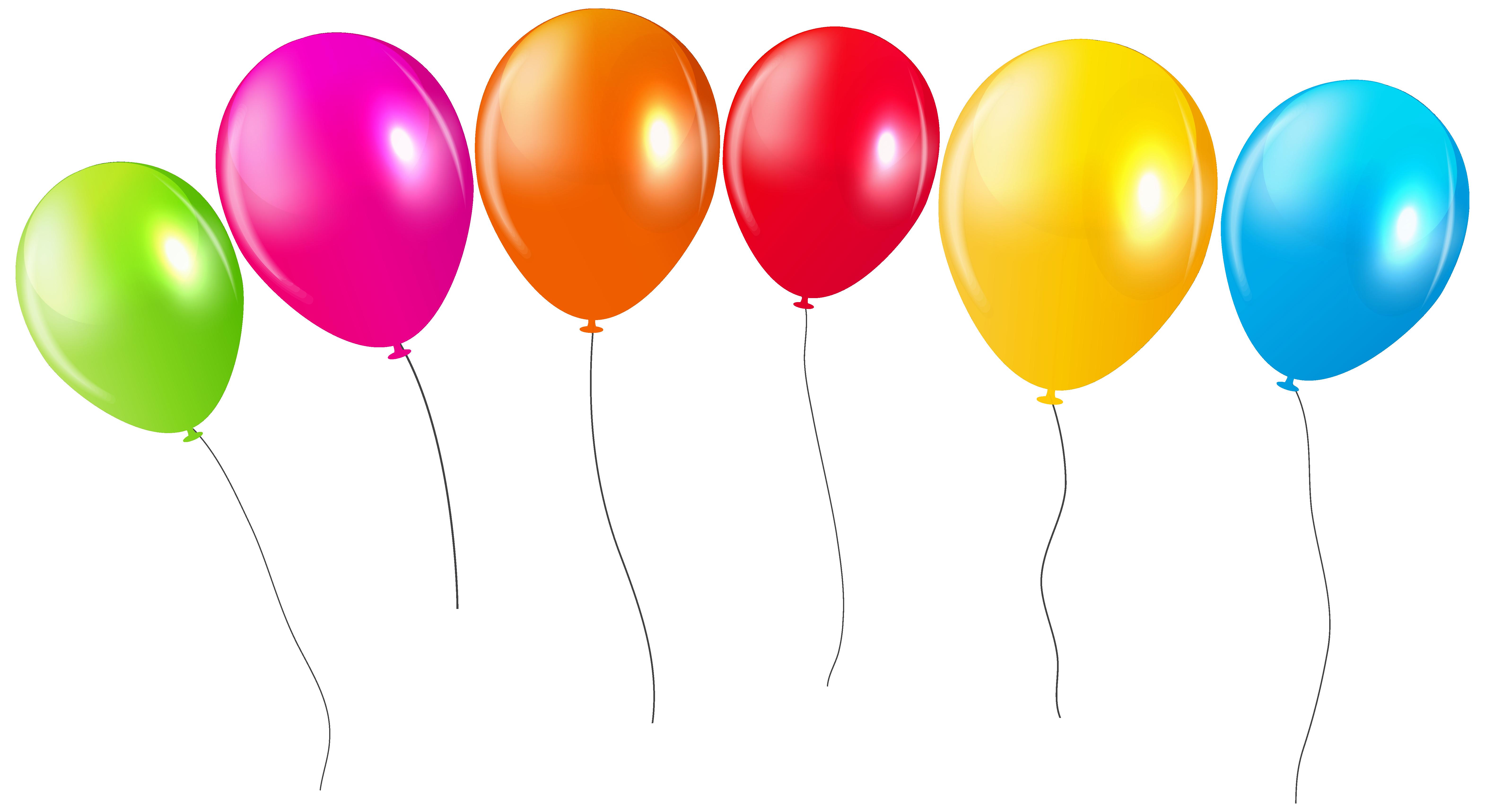 Transparent Colorful Balloons PNG Clipar