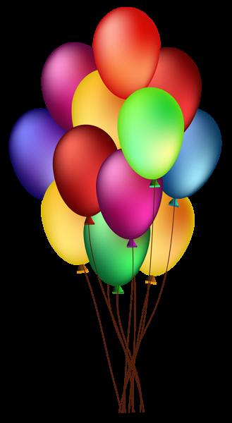 Ballon clipart colorful balloon. Bunch of balloons png