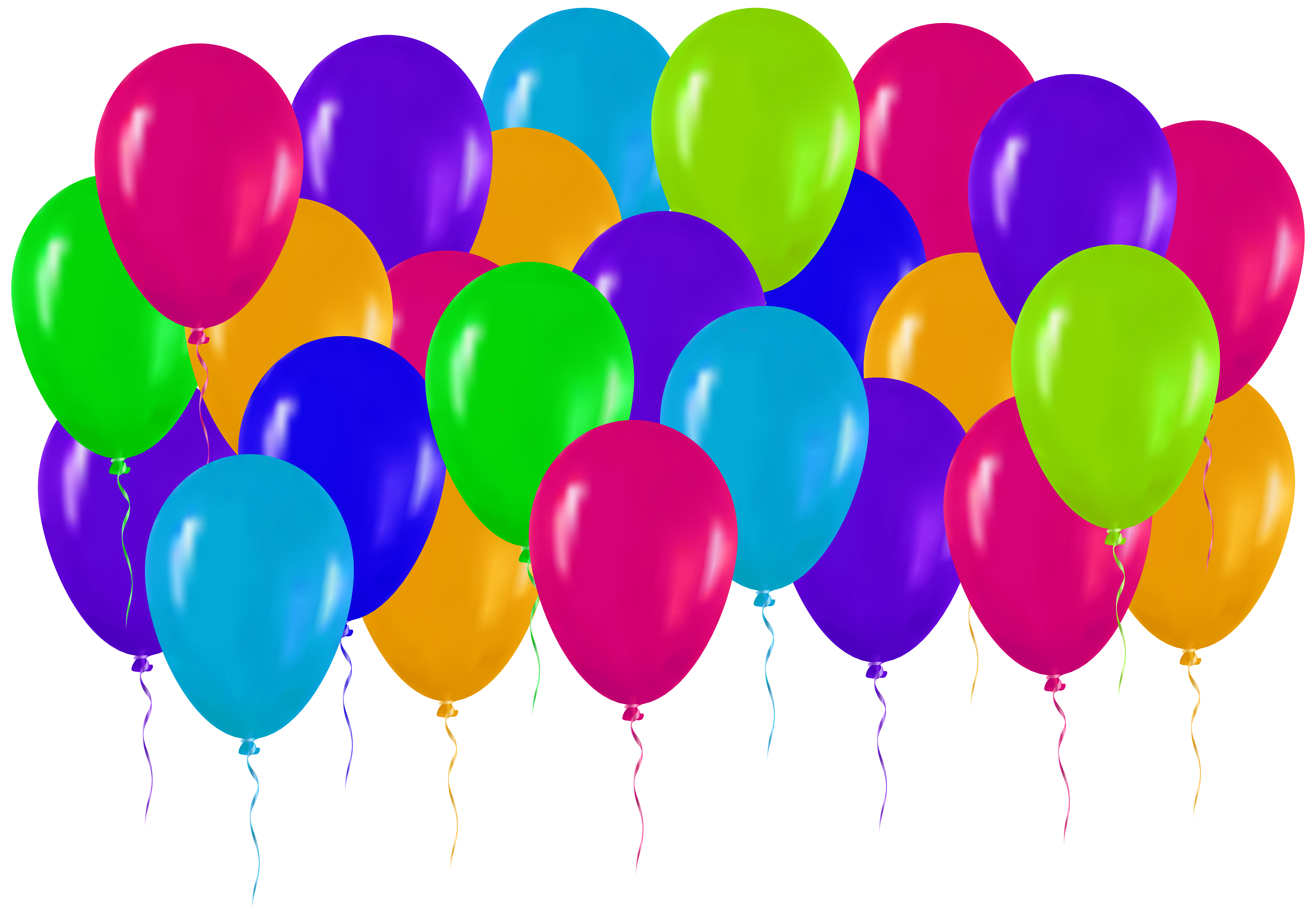 Clipart balloon gate. Colorful balloons png clip