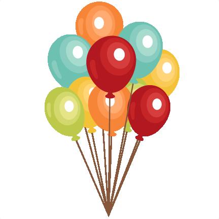 Birthday balloons clip art. Balloon clipart cute