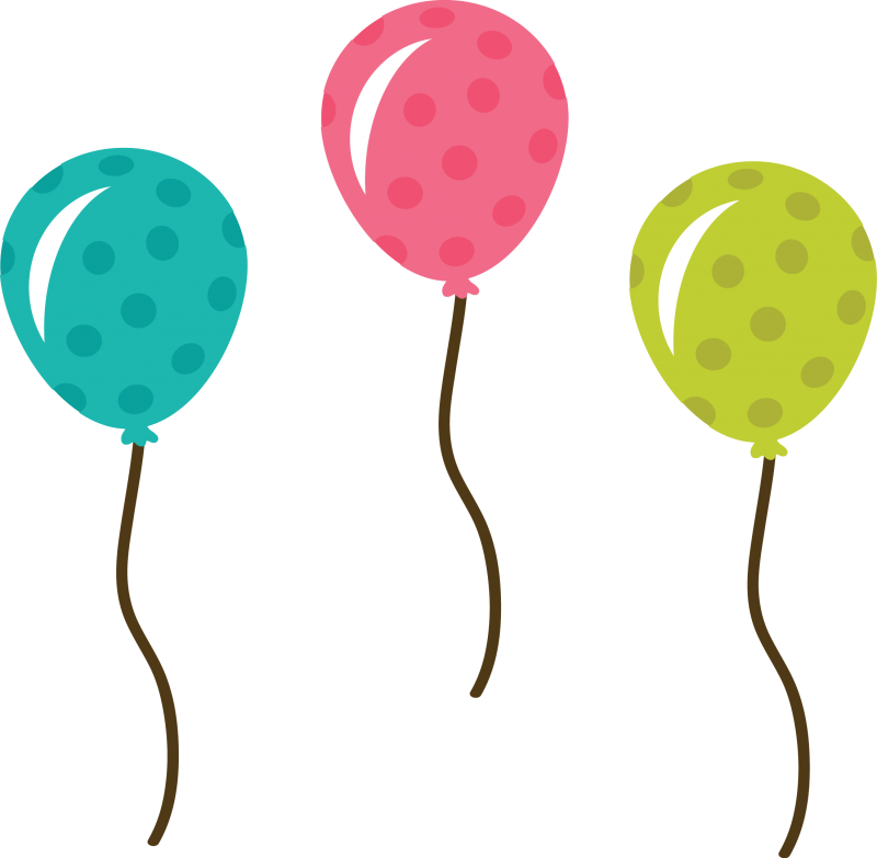 Birthday balloons free clip. Balloon clipart cute